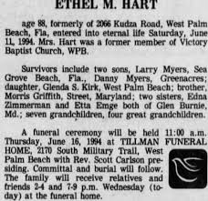Ethel (Griffith) Myers-Hart's obituary. - Newspapers.com