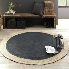 round jute rug 6 bordered round jute rug slate chenille jute rug 6x9