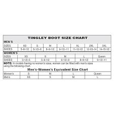 Tingley Overshoes Size Chart