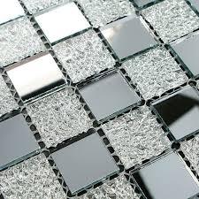 glass mosaic tiles mirror tile backsplash