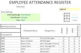 Attendance Tracker Free Attendance Tracking Spreadsheet Employee Attendance Tracker Excel