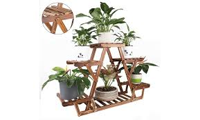 off on wooden plant stand 6 tier bon
