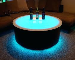 coffee table led round led lighted coffee table tiffany white high gloss coffee table with led