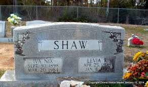 Iva Nix Shaw (1898-1984) - Find A Grave Memorial