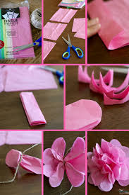 tissue paper flower garlands