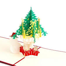 Newest 3d Handmade Folding Christmas Card Pop Up Kirigami Xmas Greeting Postcard With Envelop Christmas Tree Snowman Pattern Fun Greeting Cards Funny
