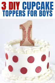 3 diy first birthday cake toppers for boys new pin graphic 3