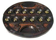 Game With Rocks And Wooden Board The Rules of Mancala 30