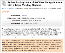 Aws Token Vending Machine Simple Is Amazon Hacking Our Apps Or Doing Us All A Security Favour