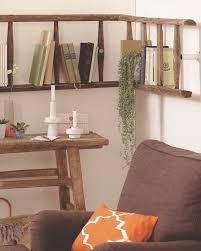 diy wall shelf reusing old ladder ideas bookshelf