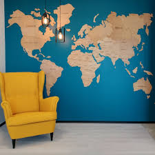 office wall decor. Wall World Map Of The Big Living Room Office Decor HouseWarming
