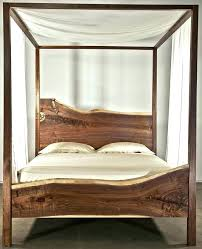 White Wood Canopy Bed Queen Home Improvement Cool Frame And Metal ...