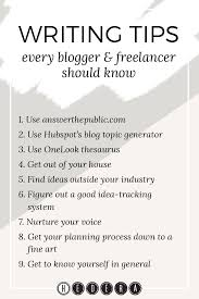 jul useful writing tips every blogger lancer should know  jul 23 useful writing tips every blogger lancer should know
