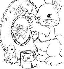 Disegni Di Pasqua Per Bambini Coniglietti Da Colorare Foto