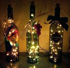 Wine Bottle Decoration With Lights Craft Lighting Ideas Wine Bottle Craft Decorated Minecraft House 2