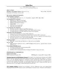 Sample Resume Of Java Developer Best Of Sample Php Programmer Cover