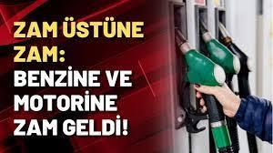 ZAM ÜSTÜNE ZAM: Benzine ve motorine zam geldi! - YouTube