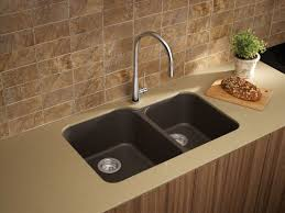 Blanco Granite Kitchen Sink Blanco 446009 Cafe Brown Meridian Double Basin Undermount