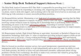 help desk resume job description 5a