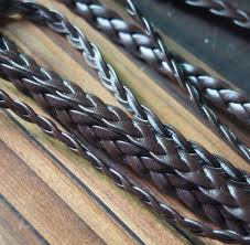 whole braided leather cord jewelry supplies 5mm dark brown quality braid leather strand craft supplies 5m