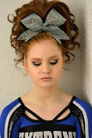 cheer hair and makeup teased hair and