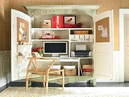 home office desk armoire. computer armoire desk white small space functional home office ideas storage