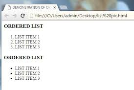 Notes On Create An Ordered And Unordered List Insert Image