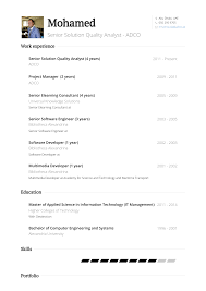 Quality Analyst Resume Samples And Templates Visualcv