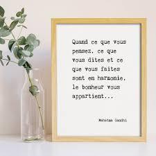 Poster Gandhi Citation Bonheur