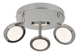 lana 3 light led round ceiling spot