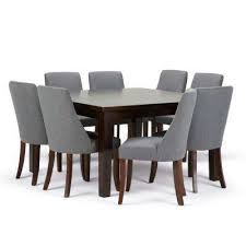 walden 9 piece slate grey dining set