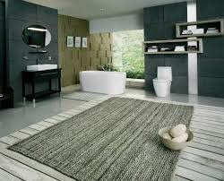 place high quality decorative large bathroom rugs near to bathtub for rug decorations