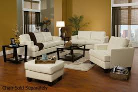 White Leather Living Room Furniture Coaster Samuel 501691 501692 White Leather Sofa And Loveseat Set