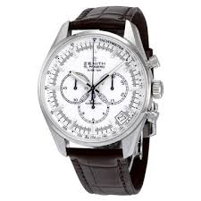 zenith watches jomashop zenith el primero chronograph white dial brown leather men s watch 03208040001c49