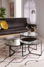 mirror coffee table. slide view: 1: elliot mirrored coffee table mirror
