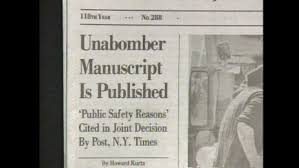 Image result for The Unabomber Trial:The Manifesto-Washington Post