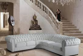 white tufted sofa. Paris-1 White Tufted Leather Sectional Sofa L