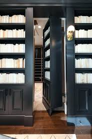 traditional hidden home office. Modren Hidden Hidden Library Traditional Den Office Black Bookcase With Doors  Lane Home Beautifully Designed Features Built In Bookcases Fixed On Either