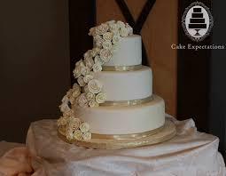12 Golden And White Wedding Cakes Photo Rose Gold Wedding Cake