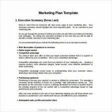 Format For An Executive Summary Market Plan Outline Example New Marketing E Executive