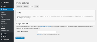 setting up your google maps api key  the events calendar