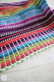 Free Crochet Pattern Best Felted Button Colorful Crochet Patterns Skittles Blanket Free