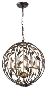 6 light fl iron sphere chandelier brushed brass finish
