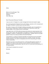 Cover Letter Outline Resume