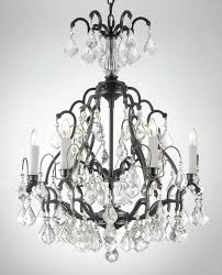 charming wrought iron crystal chandeliers with 6 light for lovely living room lighting decor
