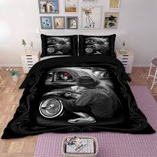 gothic bedding set skull duvet cover pillow cases twin full queen king uk double size beautiful woman bedclothes 3pcs grpg07294