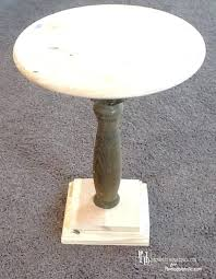 pedestal accent table white round end diy legs metal wood side tables