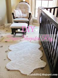 Faux Bearskin Rug Decorating White Faux Sheepskin Rug Plus Armchair And Ottoman For