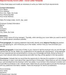 Sample Cover Letter For Adjunct Faculty Position Ideas Of Sample