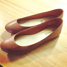 new women s faux brown leather ballet flats